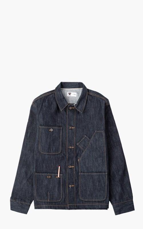 Tellason Coverall Jacket Selvedge Denim Indigo 16.5oz