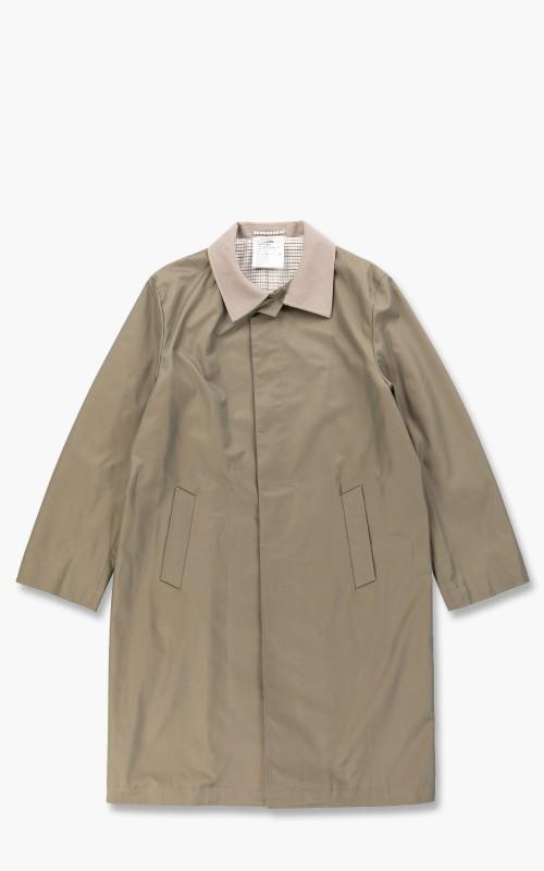 Digawel Balmacaan Coat Khaki