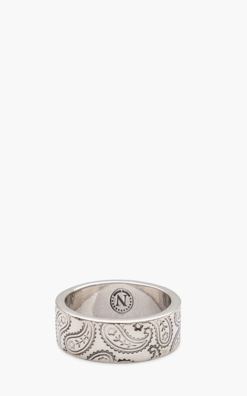 North Works W-321D Ring 900 Silver Paisley