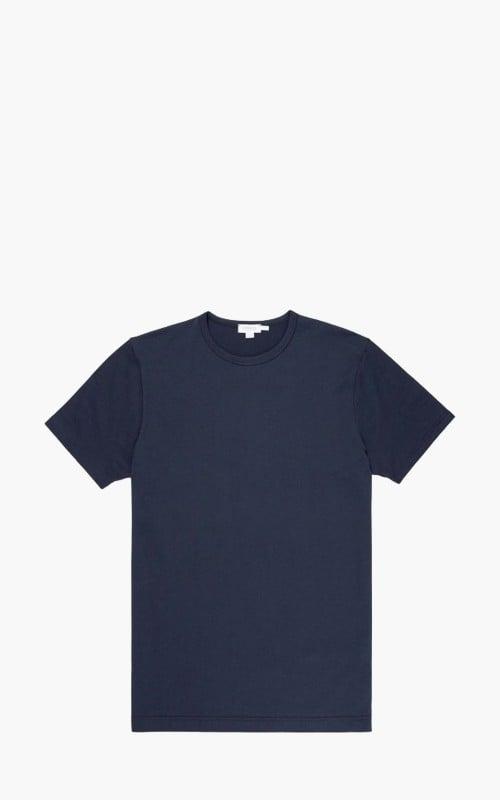 Sunspel Classic Cotton T-Shirt Navy