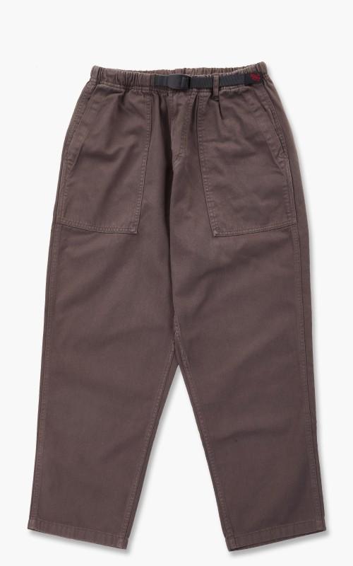 Gramicci Loose Tapered Twill Pants Dark Brown