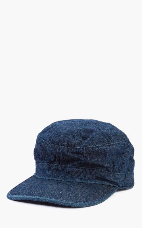 Momotaro Jeans SJ002 Denim Work Cap Indigo