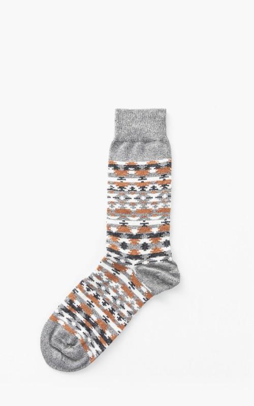 Birkenstock Ethno Linen Socks Whale Grey