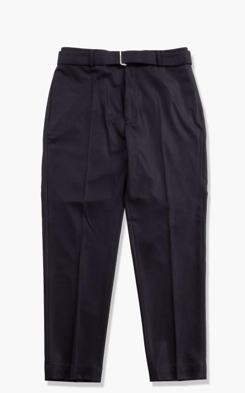 Officine Generale Owen Pants Italian Flannel Wool Navy