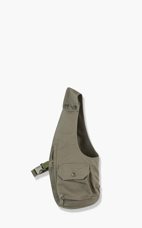 Engineered Garments Shoulder Vest Cotton Double Cloth Olive
