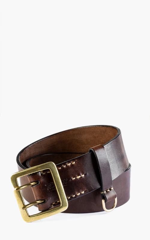 Timeless Leather Craftsmanship Double Prong 45er Belt Brown