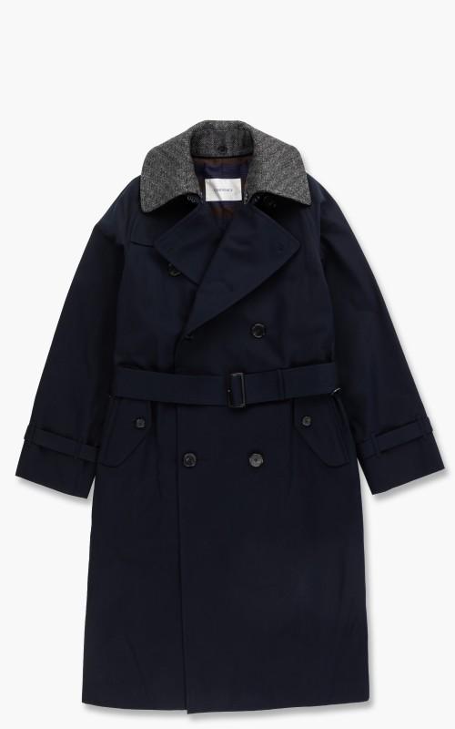 Coherence AL II Gabardine Coat Dark Blue