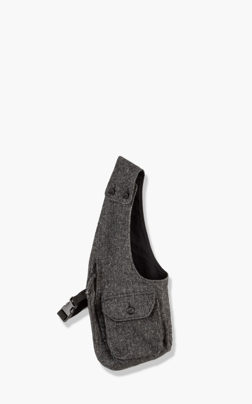 Engineered Garments Shoulder Vest Poly Wool Herringbone Grey