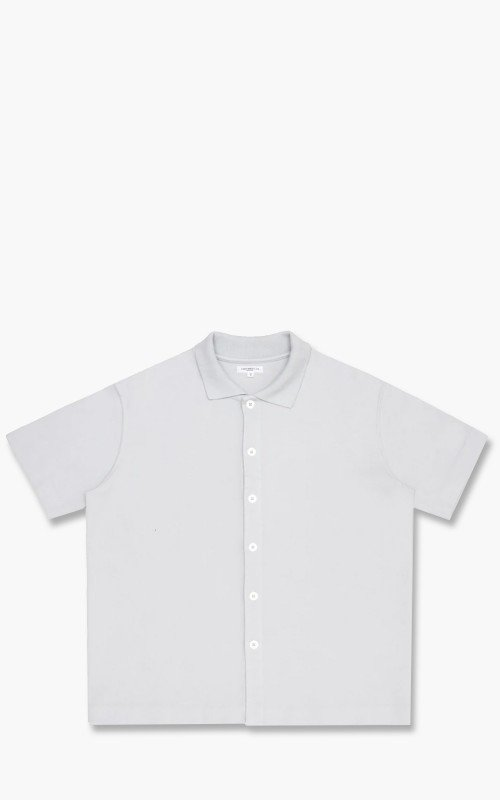 Lady White Co. Short Sleeve Placket Polo Steel Grey