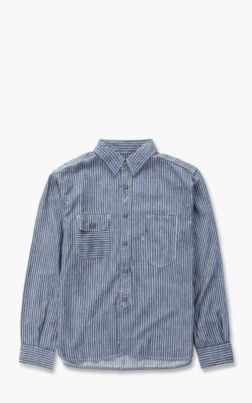 Momotaro Jeans 05-297 Selvedge Stripe Shirt Indigo