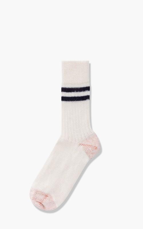 Merz b. Schwanen S75 Retro Sport Socks Nature/Deep Black