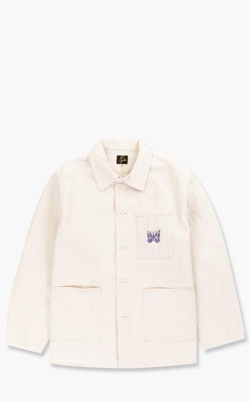 Needles D.N. Coverall Jacket Herringbone Off White