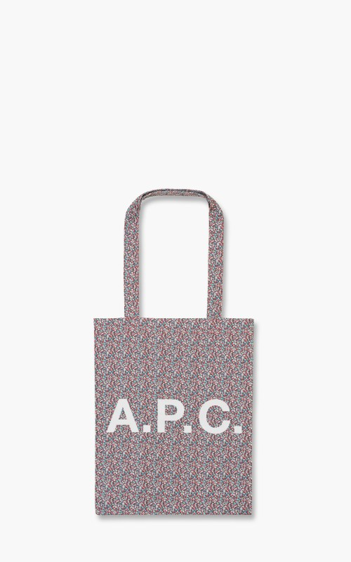 A.P.C. Lou Tote Bag Liberty Printed Canvas Red
