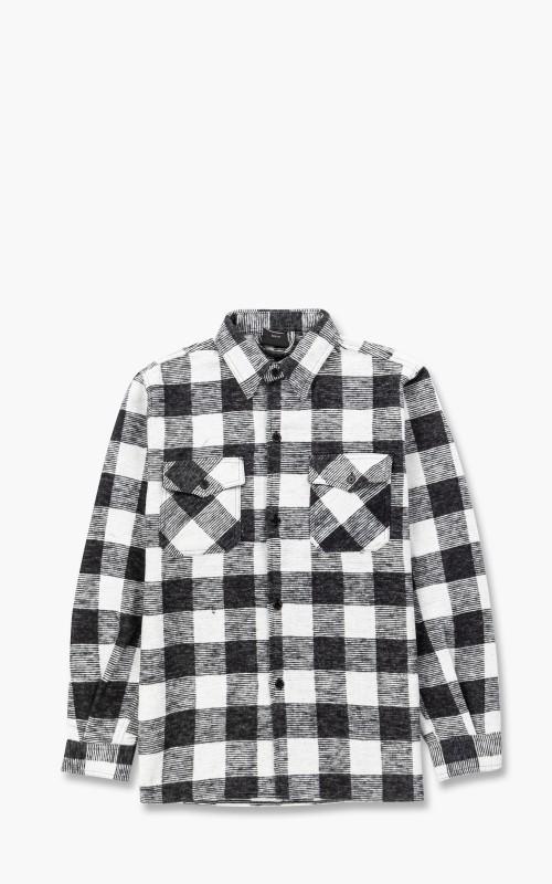 Military Surplus Flannel Shirt Black/White