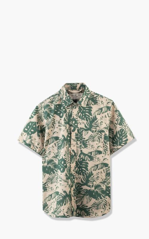 Rogue Territory Oxford S/S Shirt Green Monstera