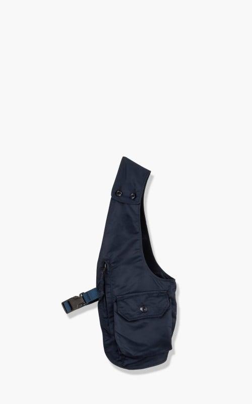 Engineered Garments Shoulder Vest Flight Satin Nylon Navy