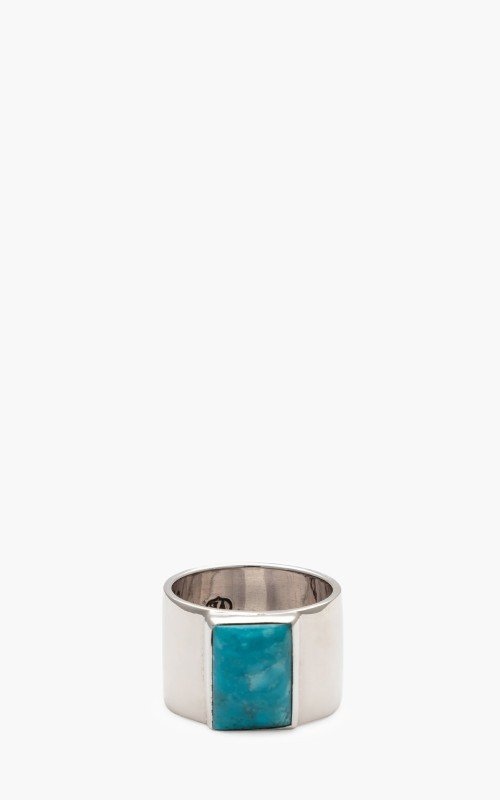 North Works W-025 Ring 900 Silver Turquoise