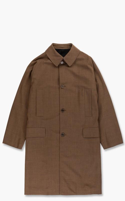Markaware Organic Wool Tropical Raglan Mac Coat Khaki
