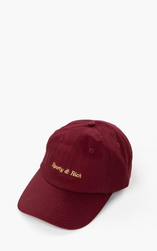 Sporty & Rich Classic Logo Hat Burgundy
