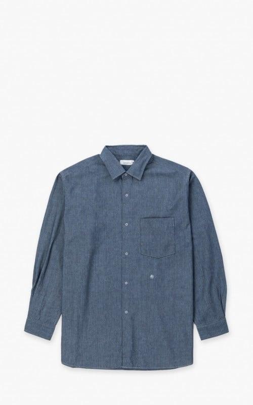 Nanamica Regular Collar Wind Shirt Indigo