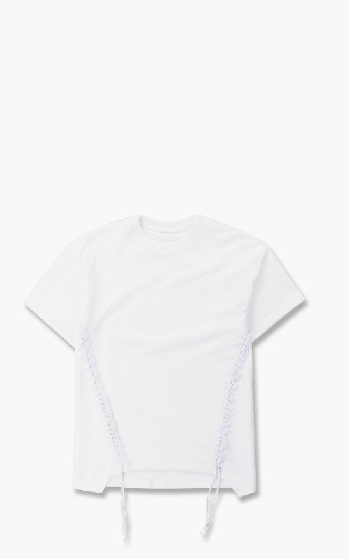 Helmut Lang Laced Sweat Crew S/S Tee White