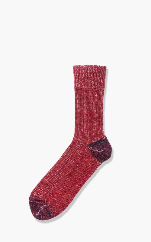 Merz b. Schwanen S72 New Wool Socks Red/Nature