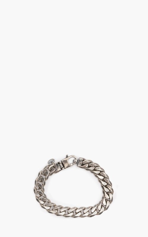 Argentidea 10mm Oxidized Solid Cuban Link Bracelet 925 Sterling Silver