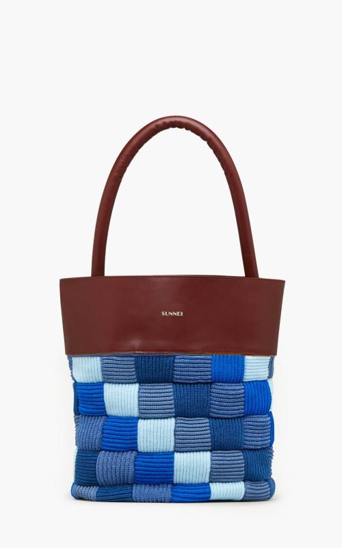 Sunnei Crochet Bag Blue Brown