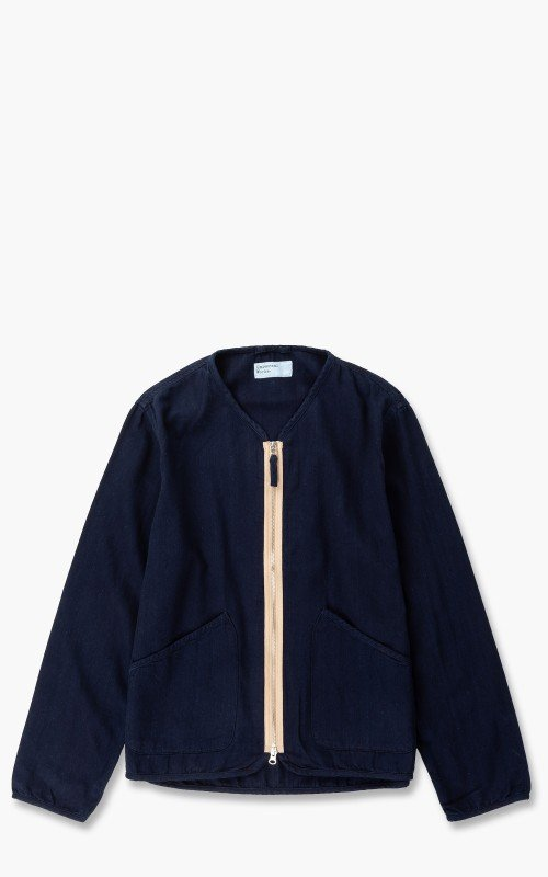 Universal Works Military Liner Jacket Herringbone Denim Indigo