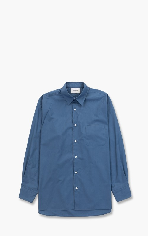 Markaware Comfort Fit Shirt Organic Cotton Shirting Soktas Pull Cyan Blue