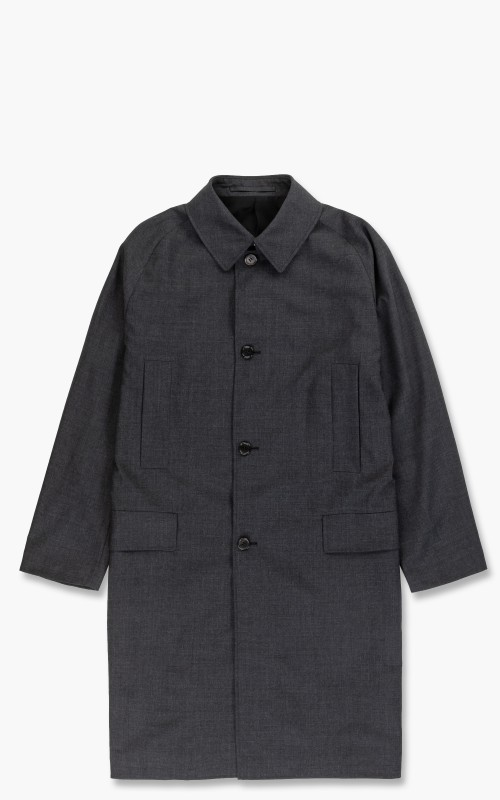 Markaware Organic Wool Tropical Raglan Mac Coat Charcoal
