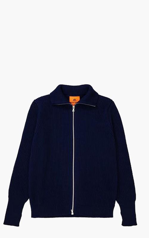 Andersen-Andersen Navy Full-Zip Pockets Royal Blue