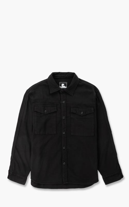 Edwin Valter Shirt Apulia Denim Garment Dyed Black