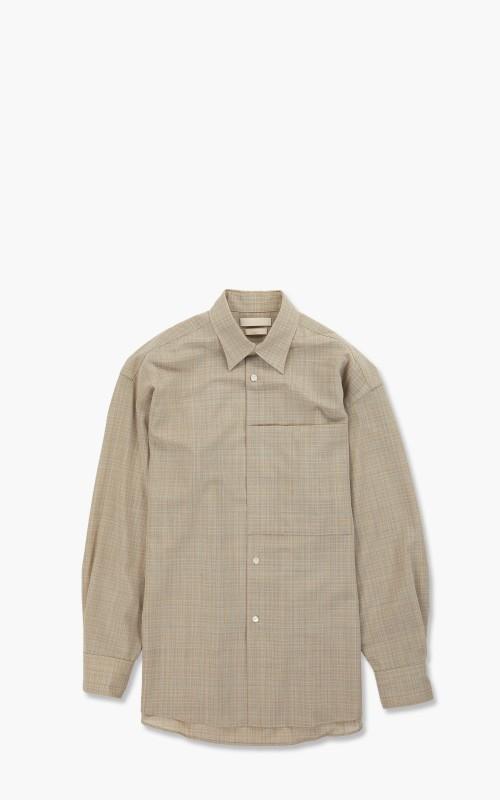 Yoke Oversized Big Pocket Shirt Beige