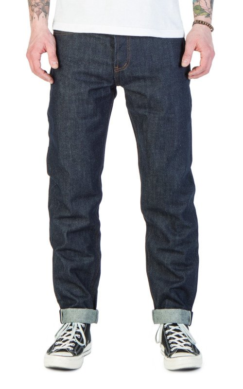 The Unbranded Brand UB601 Relaxed Tapered Fit Indigo Selvedge 14.5oz