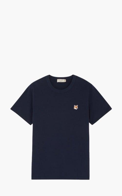 Maison Kitsuné T-Shirt Fox Head Patch Navy