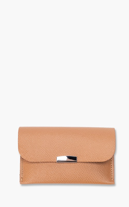 Digawel Card Case Calf Leather Camel