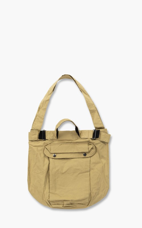 Margaret Howell MHL. Army Surplus Bag Washed Waxed Cotton Faded Olive