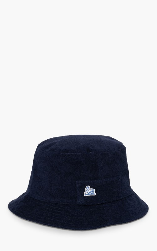 Merz b. Schwanen French Terry Bucket Hat Deep Blue