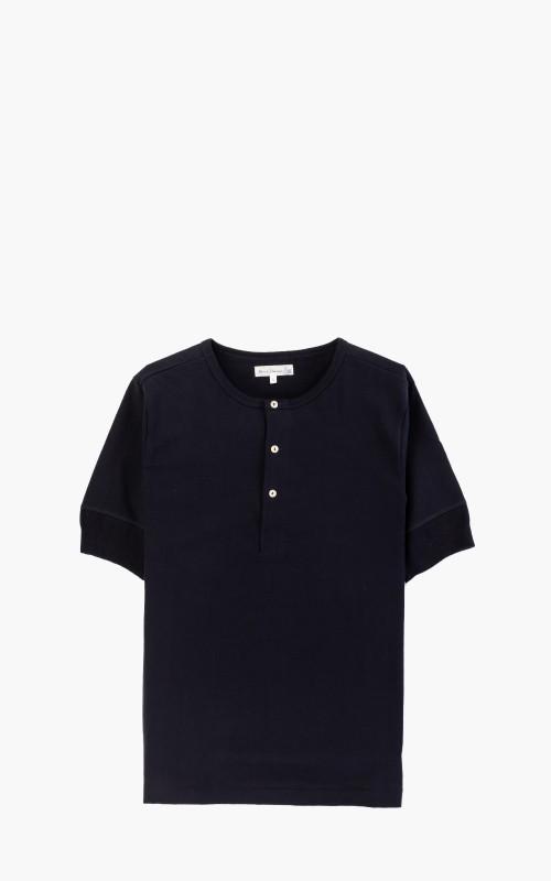 Merz b. Schwanen 207 Button Facing Shirt 1/4 Night Blue