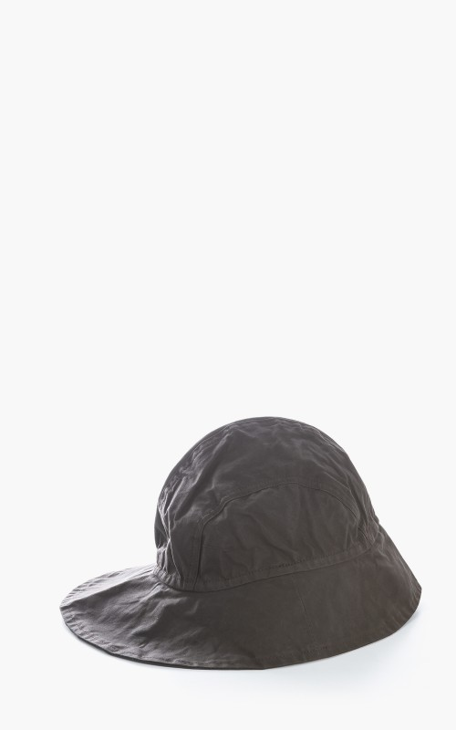 Margaret Howell MHL. Sou´wester Washed Waxed Cotton Hat Carob
