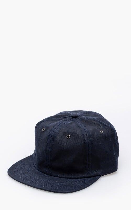3sixteen Waxed Canvas Baseball Cap Navy