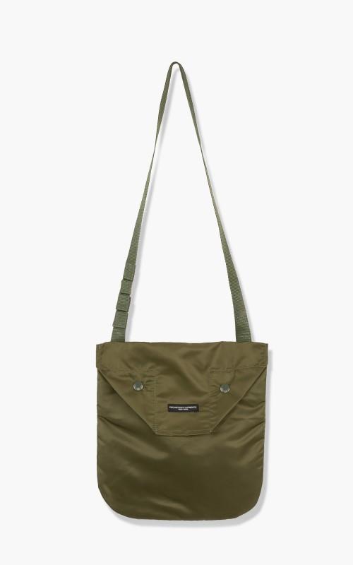 Engineered Garments Shoulder Pouch Flight Satin Nylon Olive