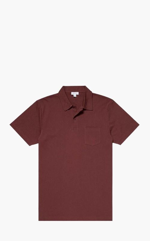 Sunspel Cotton Riviera Polo Shirt Merlot