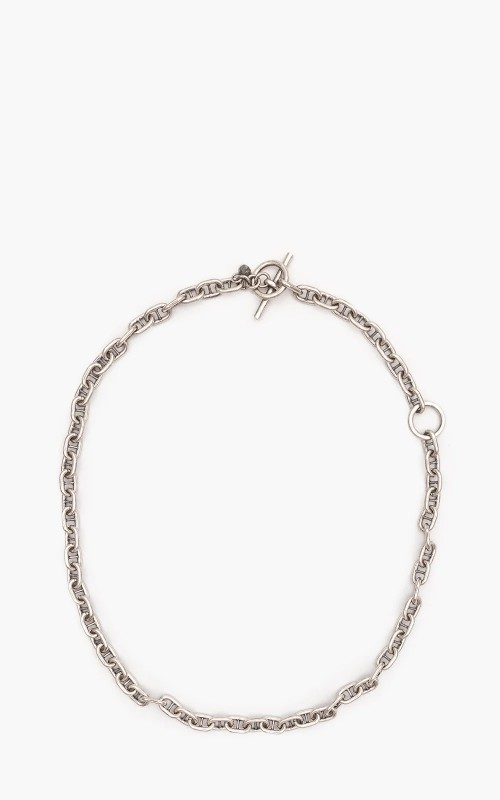 Argentidea 50/60 Oxidized Solid Anchor Chain Necklace 925 Sterling Silver
