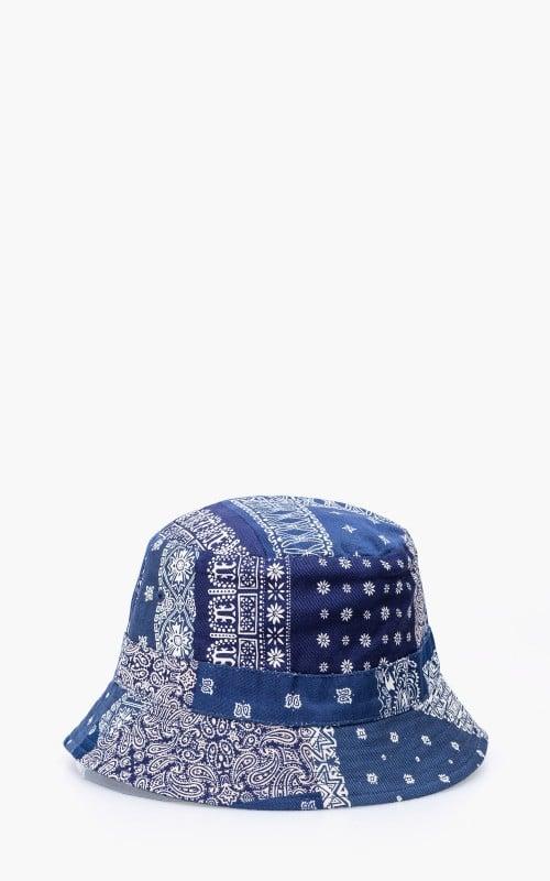 Universal Works Bucket Hat Bandana Two Indigo