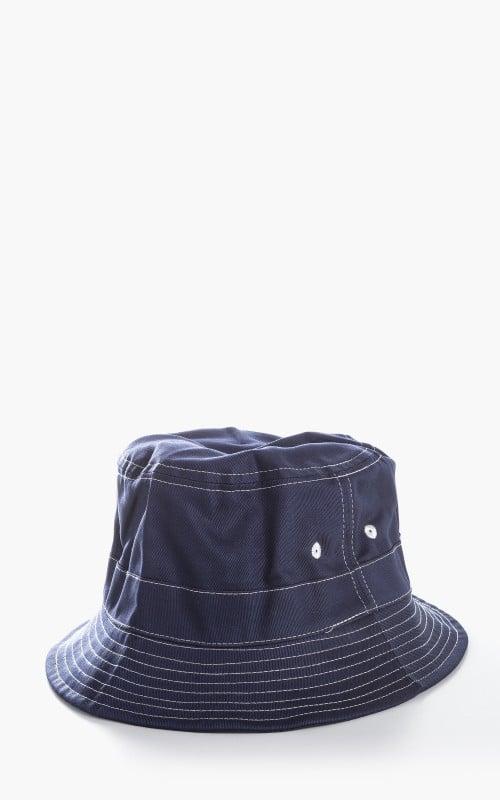 Universal Works Twill Bucket Hat Navy