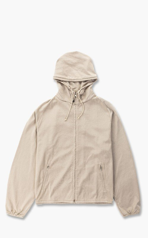 Lady White Co. Hooded Nylon Jacket Creampearl