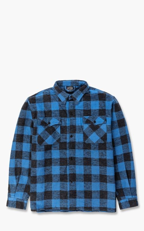 Military Surplus Flannel Shirt Blue/Black