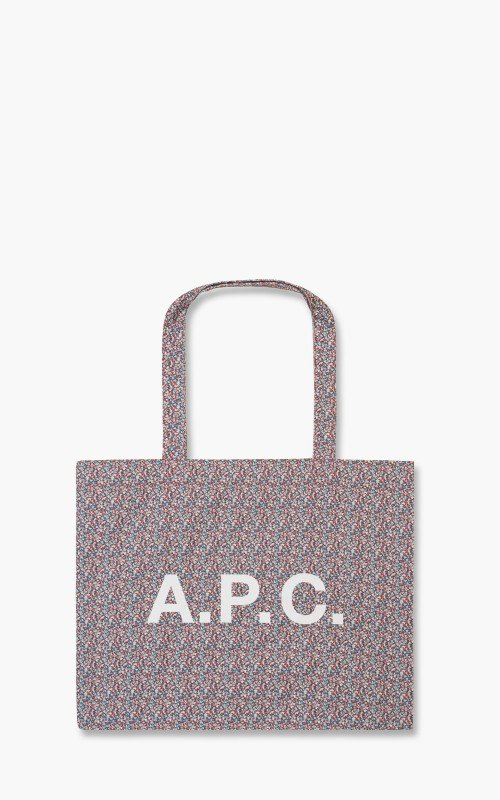 A.P.C. Diane Shopping Bag Liberty Printed Canvas Red